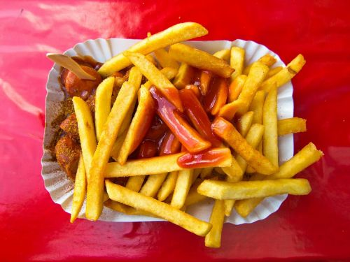 currywurst french fries french
