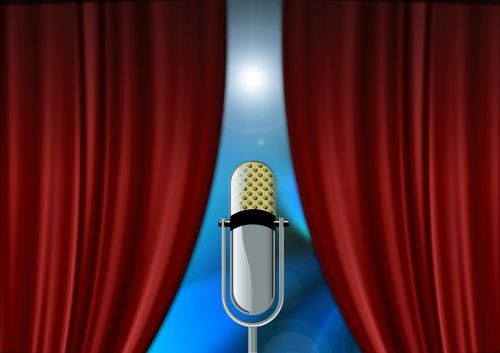 curtain microphone event