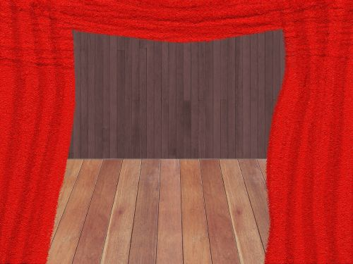 curtain red theater