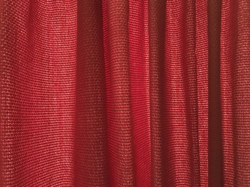 curtain red window