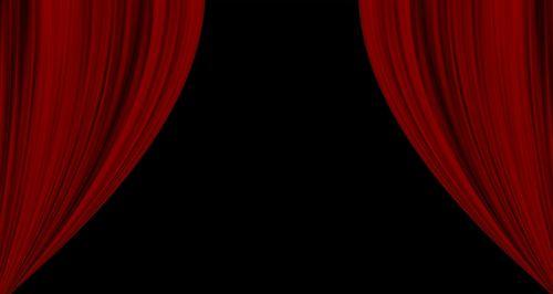 curtain cinema red