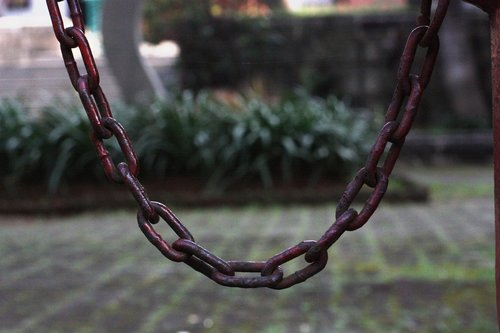 curve  iron  chain