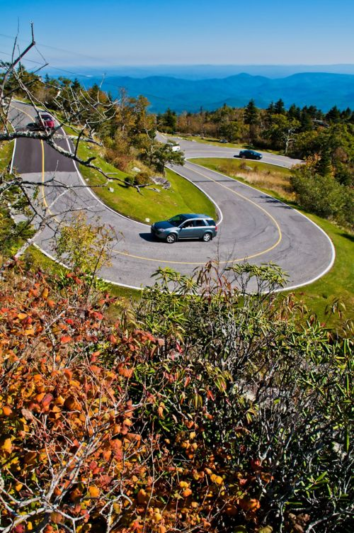 Curve In The Mountain Road