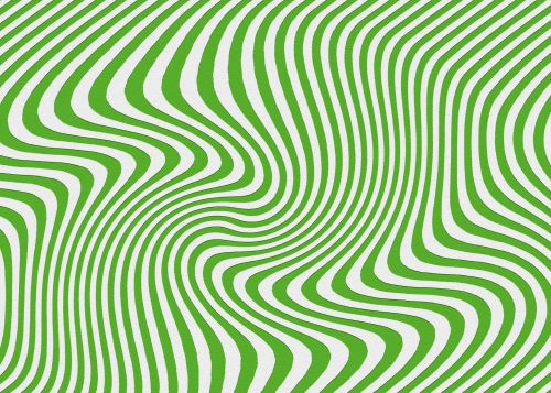 Curved Lines In Green And White