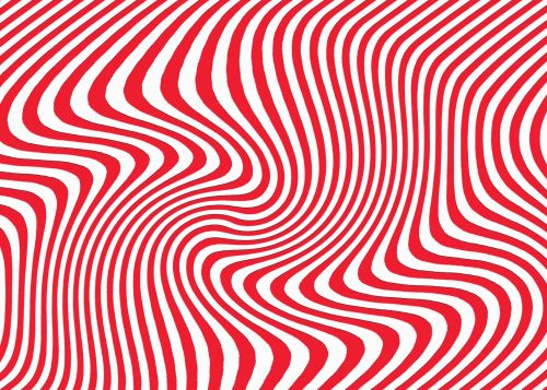 Curved Lines In Red And White