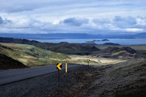 curving road tarmac