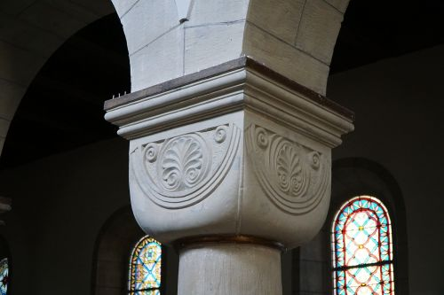 cushion capital romanesque church