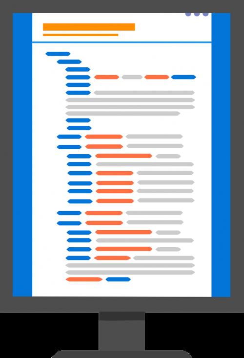 custom code flat icon custom
