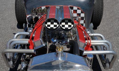 Customized Hot Rod Engine