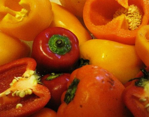Cut Sweet Peppers