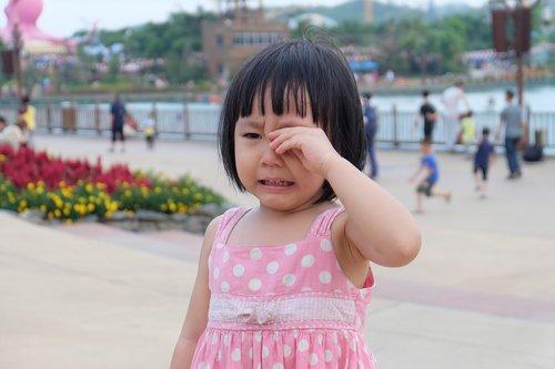 cute girl  cry  amusement park