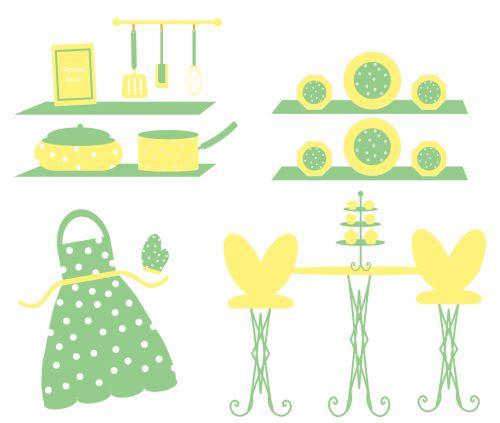 Cute Kitchen Utensils Wallpaper