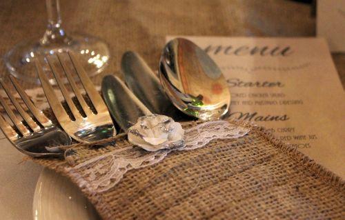cutlery cutlery case wedding table