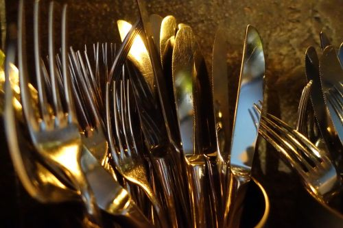 cutlery forks knives