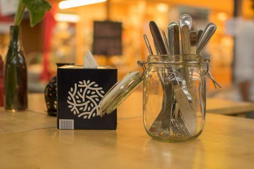 cutlery glass box