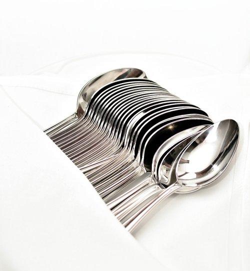 cutlery  spoon  silver