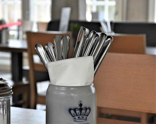 cutlery  restaurant  table