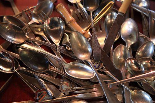 cutlery silver silverware