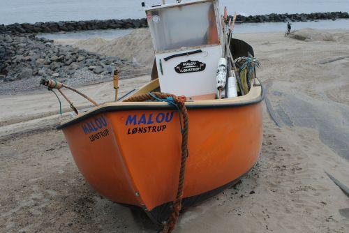 cutter boat beach
