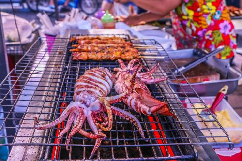 grilled squid squid grill