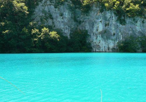 cyan water lake