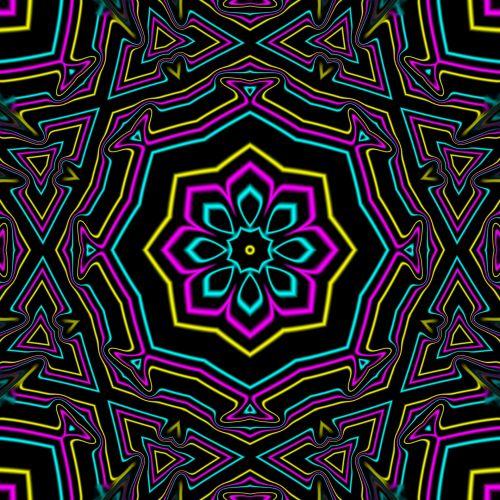 Cyan Yellow Magenta Kaleidoscope