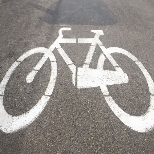 cycle track signage bicycle