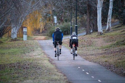 cycling  autumn  bike path