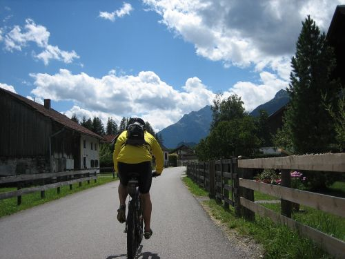 cycling bike away