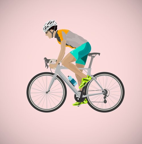 cyclist  bicycle  person
