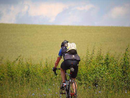 cyclists uphill training