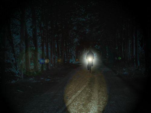 cyclists night park