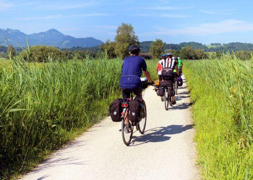 cyclists cycling bike