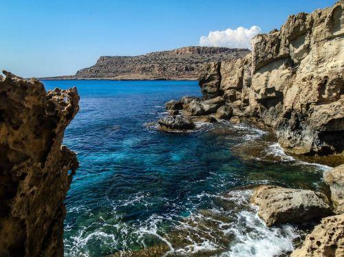 Kipras,cavo greko,kraštovaizdis,pakrantė
