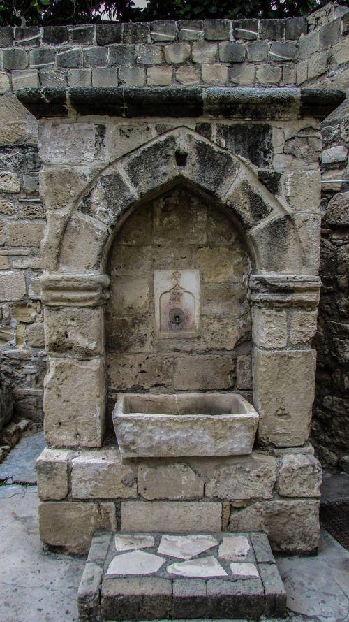 Kipras,larnaka,tvirtovė,fontanas,ottoman