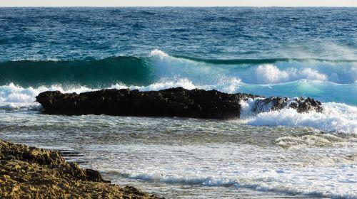 Kipras,ayia napa,uolos pakrantė,banga,Smashing,jūra,pakrantė