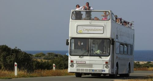 cyprus cavo greko wedding bus