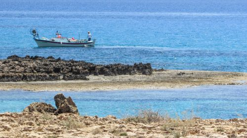 cyprus rocky cost blue