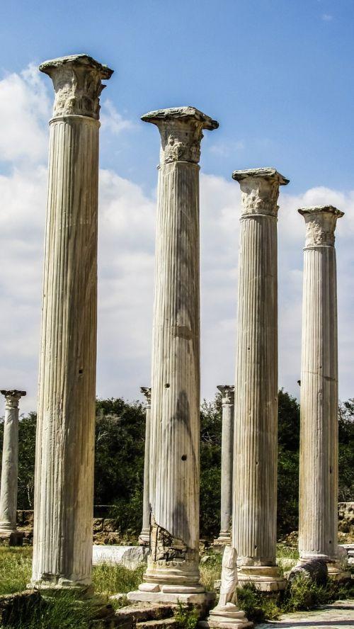 Kipras,salamis,ramstis,korintijos,stulpelis,archeologija,archeologiniai,kultūra,orientyras,famagusta,turizmas