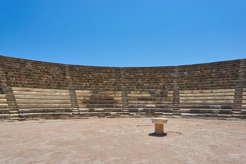 cyprus  amphitheater  old