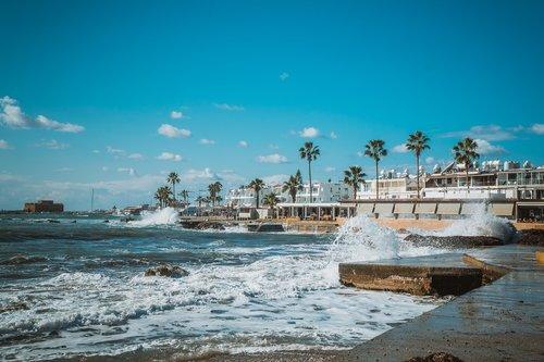 cyprus  pafos  sea
