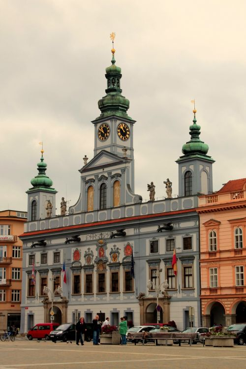 czech budejovice south bohemia old building