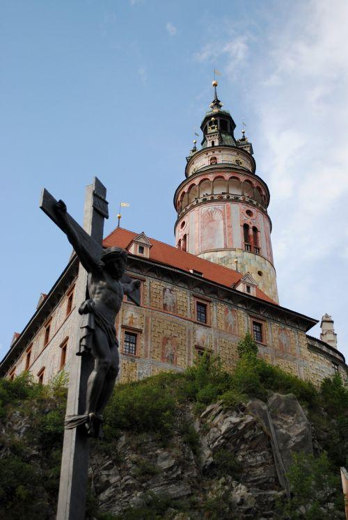 czech krumlov castle the crucifixion