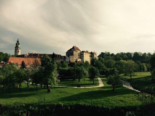 czech krumlov landscape view