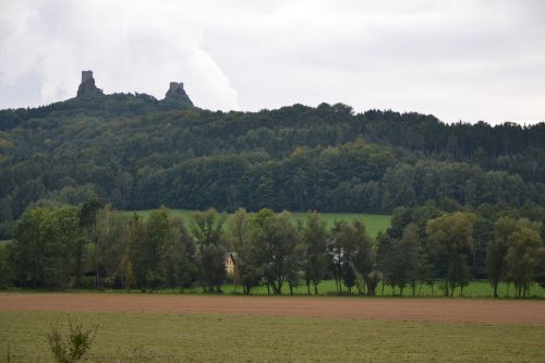 czech republic trosky castle castle