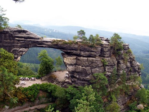 czech switzerland pravcice gate rocks