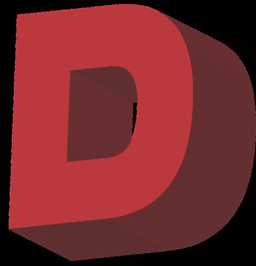 d alphabet letter