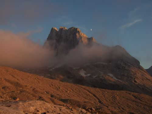 dachstein afterglow panorama