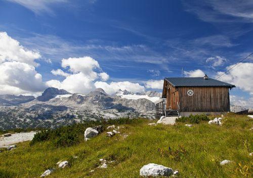 dachstein alm alpine hut