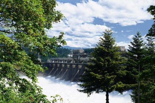 dam  falls  columbia